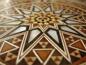 Closeup on Damascene mosaic design